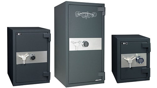 image of three different sizes of AMSEC safes