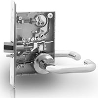 We install a wide variety of mortise locks with different types of handles