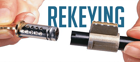 image of a lock cylinder removed for rekeying