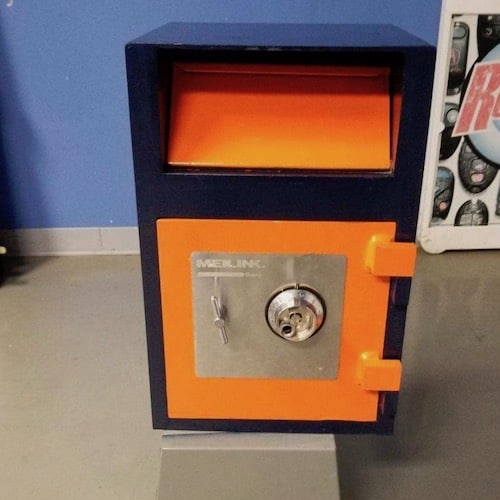 Repaired and refurbished used safe